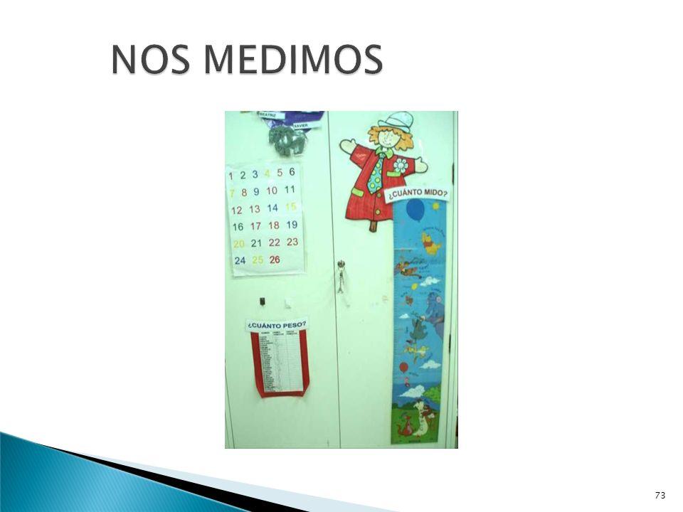 EXPERIENCIAS:.- NOS MEDIMOS.- NOS PESAMOS..- MEDIMOS LOS OBJETOS 72