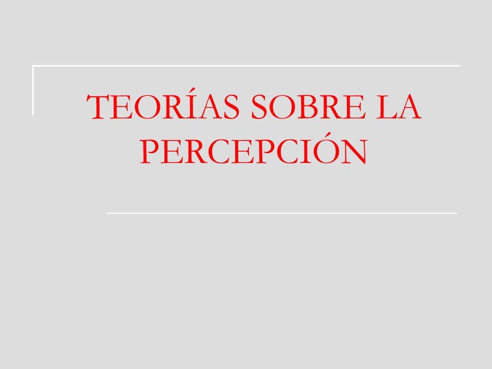 TEORÍAS SOBRE LA PERCEPCIÓN