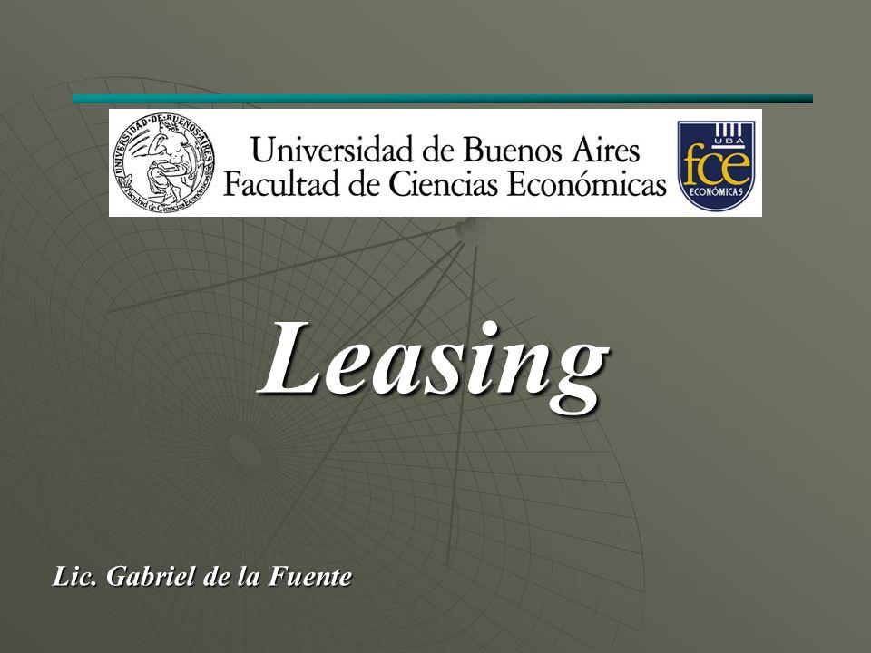 Lic. Gabriel de la Fuente Leasing
