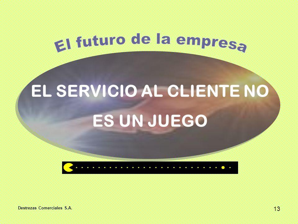 Destrezas Comerciales S.A. 13 EL SERVICIO AL CLIENTE NO ES UN JUEGO