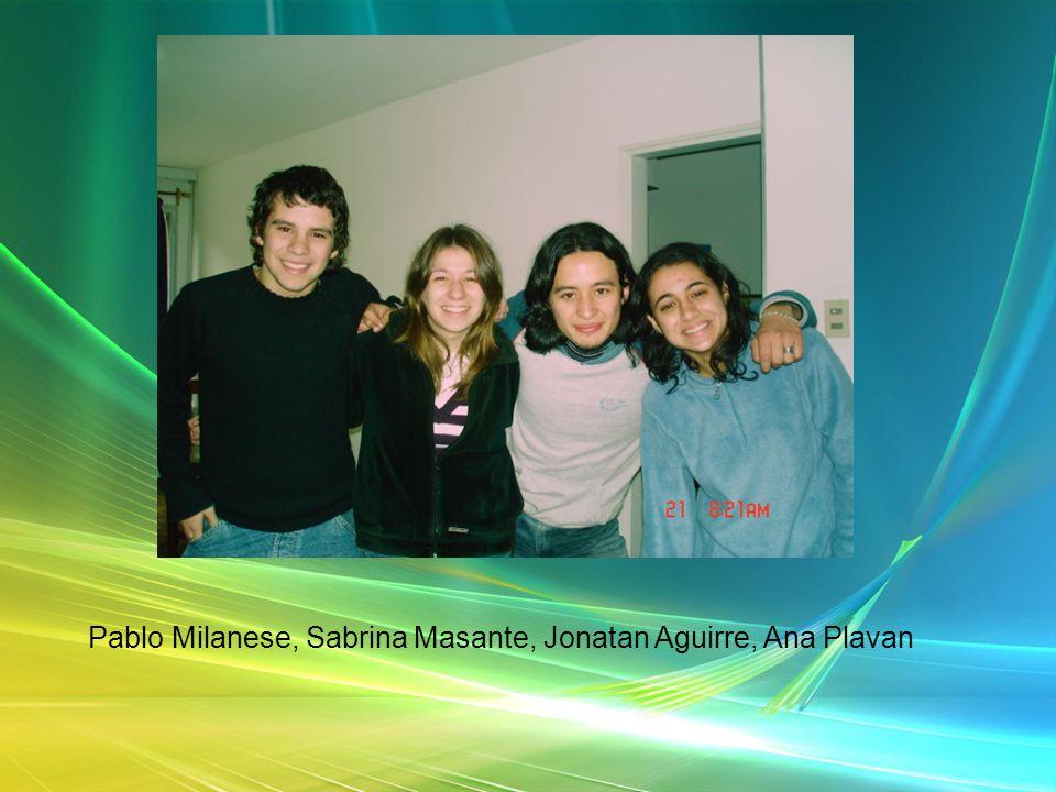 Pablo Milanese, Sabrina Masante, Jonatan Aguirre, Ana Plavan