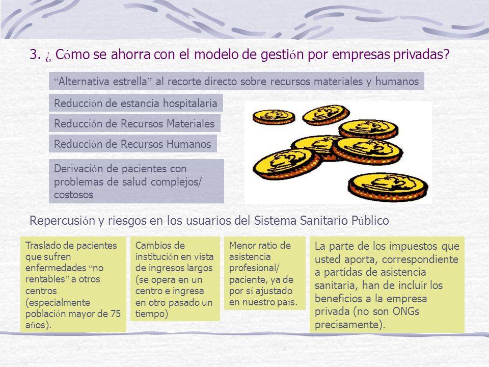3.¿ C ó mo se ahorra con el modelo de gesti ó n por empresas privadas.