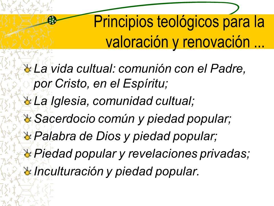 Principios teológicos para la valoración y renovación...