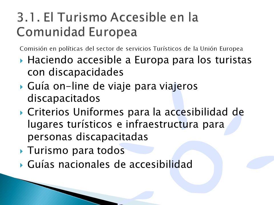 Comisión en políticas del sector de servicios Turísticos de la Unión Europea Haciendo accesible a Europa para los turistas con discapacidades Guía on-