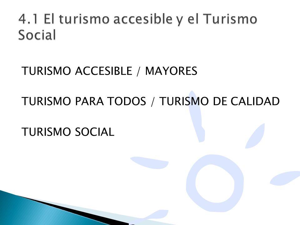 TURISMO ACCESIBLE / MAYORES TURISMO PARA TODOS / TURISMO DE CALIDAD TURISMO SOCIAL