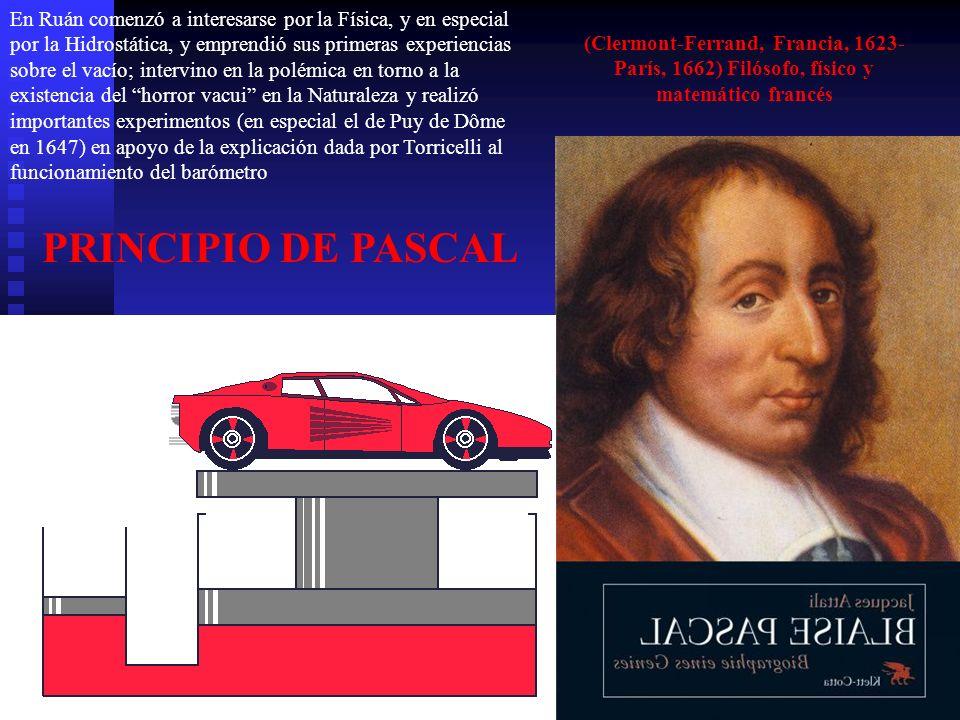 (Clermont-Ferrand, Francia, 1623- París, 1662) Filósofo, físico y matemático francés En Ruán comenzó a interesarse por la Física, y en especial por la
