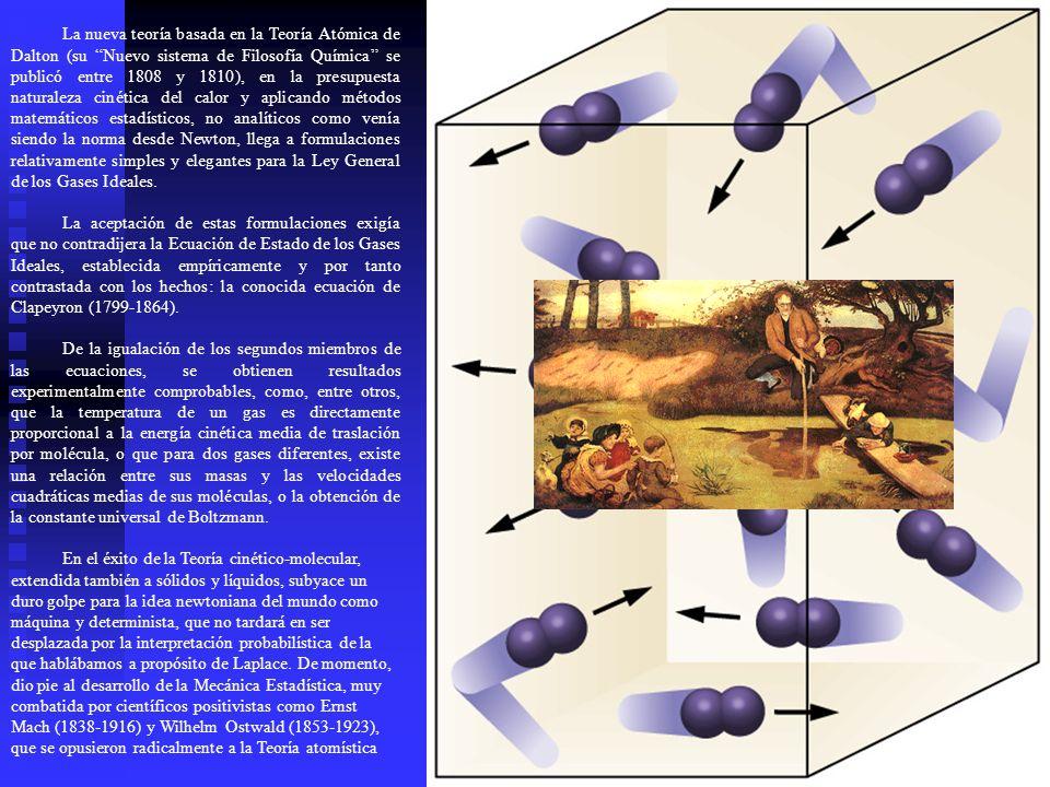 La nueva teoría basada en la Teoría Atómica de Dalton (su Nuevo sistema de Filosofía Química se publicó entre 1808 y 1810), en la presupuesta naturale