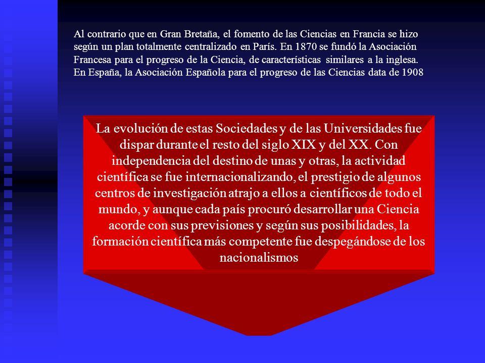 La evolución de estas Sociedades y de las Universidades fue dispar durante el resto del siglo XIX y del XX. Con independencia del destino de unas y ot