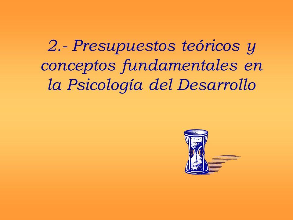 2.- Presupuestos teóricos y conceptos fundamentales en la Psicología del Desarrollo