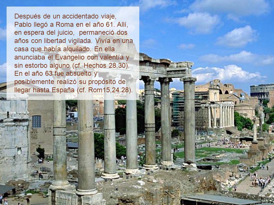 Prisionero (Hechos 21,27-28,31) En la ciudad de David, algunos judíos provocaron un motín para darle muerte, pero el tribuno Claudio Lisias impidió qu
