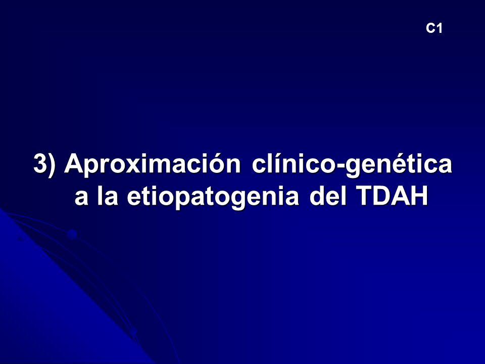 3) Aproximación clínico-genética a la etiopatogenia del TDAH C1