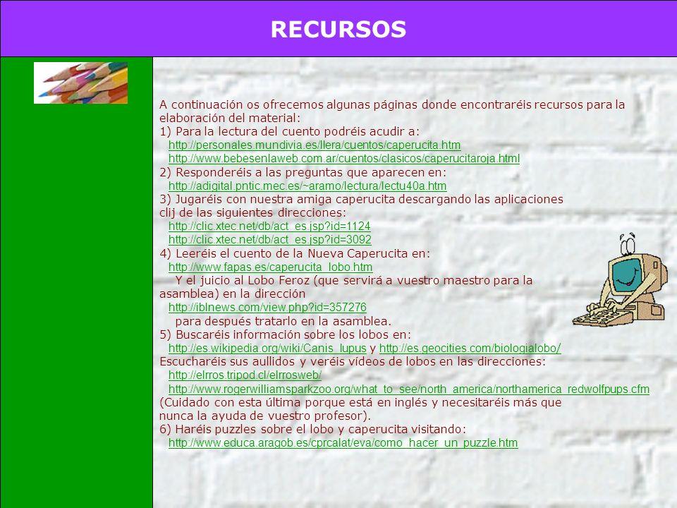 PROCESO INTRODUCCIÓN TAREA PROCESO RECURSOS EVALUACIÓN CONCLUSIONES CREDITOS Guía para el profesor Para la realización de la actividad completad los s