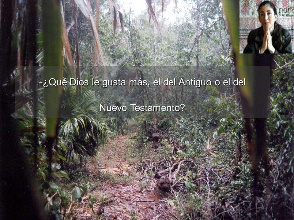 -¿Qué Dios le gusta más, el del Antiguo o el del Nuevo Testamento?