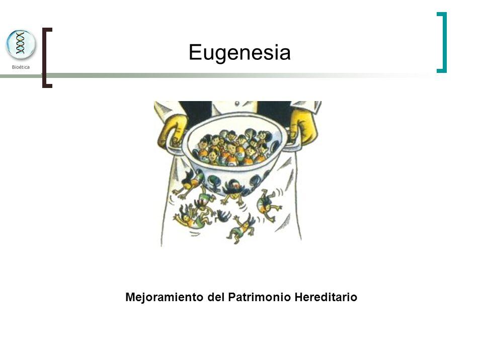 Eugenesia Mejoramiento del Patrimonio Hereditario