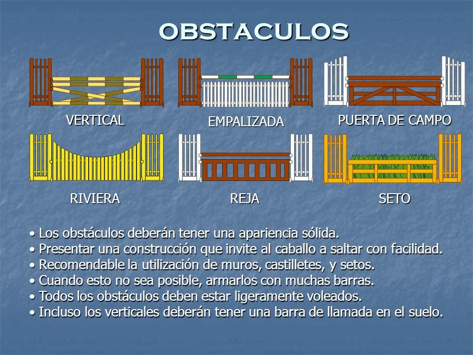 obstaculos VERTICAL EMPALIZADA PUERTA DE CAMPO RIVIERAREJASETO Los obstáculos deberán tener una apariencia sólida.