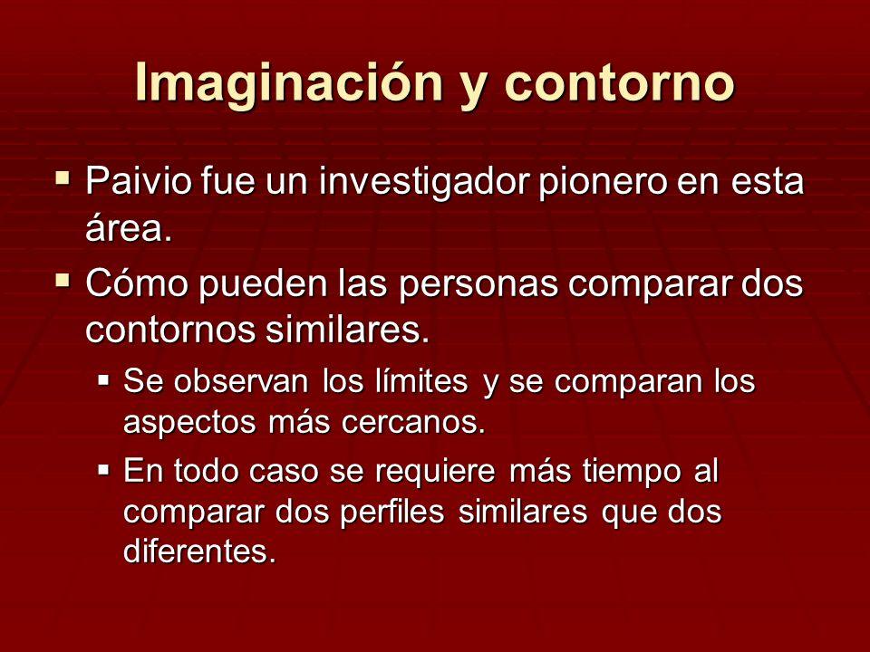 Imaginación y contorno Paivio fue un investigador pionero en esta área. Paivio fue un investigador pionero en esta área. Cómo pueden las personas comp