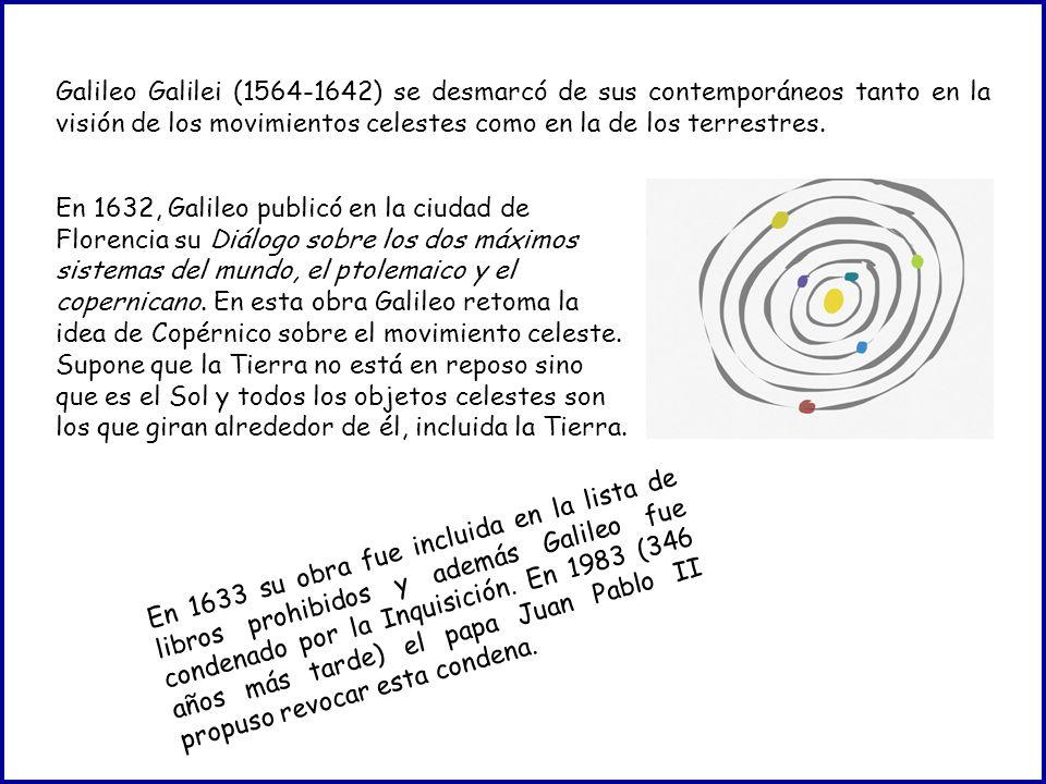 En 1632, Galileo publicó en la ciudad de Florencia su Diálogo sobre los dos máximos sistemas del mundo, el ptolemaico y el copernicano.