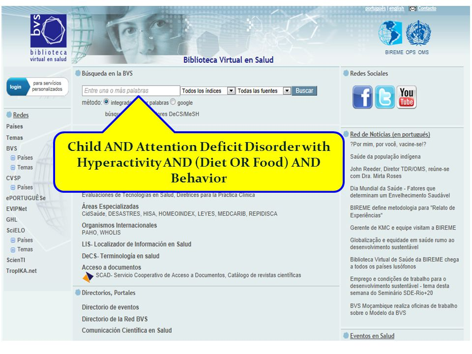 Child AND Attention Deficit Disorder with Hyperactivity AND (Diet OR Food) AND Behavior
