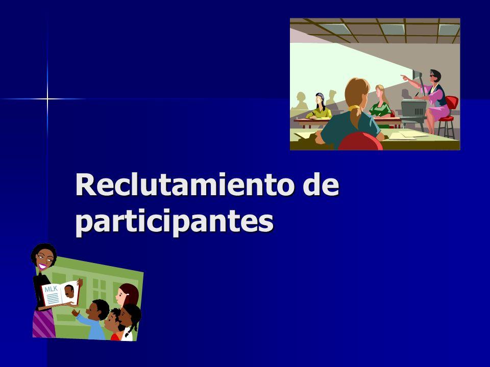 Reclutamiento de participantes