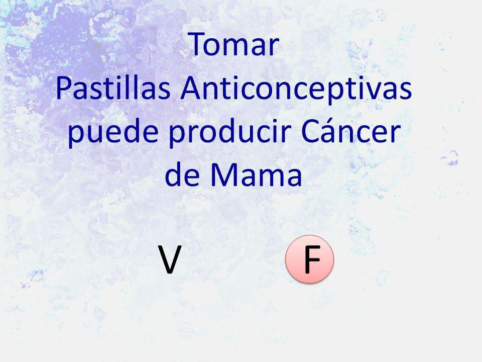 Tomar Pastillas Anticonceptivas puede producir Cáncer de Mama V F