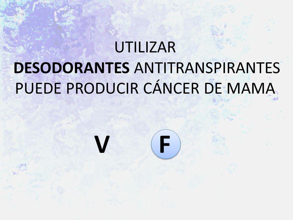 UTILIZAR DESODORANTES ANTITRANSPIRANTES PUEDE PRODUCIR CÁNCER DE MAMA V F