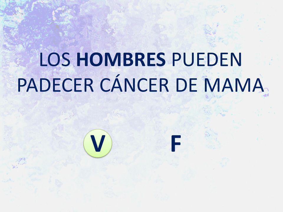 LOS HOMBRES PUEDEN PADECER CÁNCER DE MAMA V F