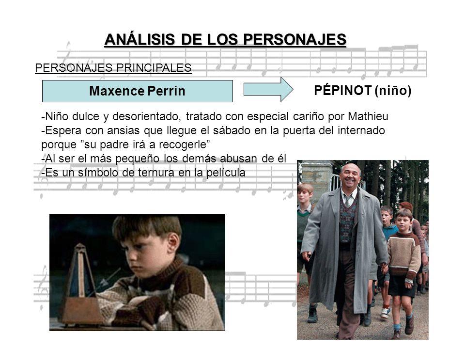 Maxence Perrin PÉPINOT (niño) -Niño dulce y desorientado, tratado con especial cariño por Mathieu -Espera con ansias que llegue el sábado en la puerta