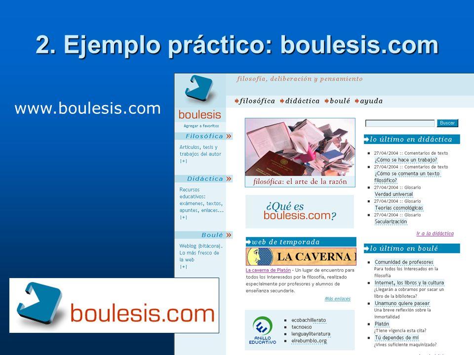 2. Ejemplo práctico: boulesis.com www.boulesis.com