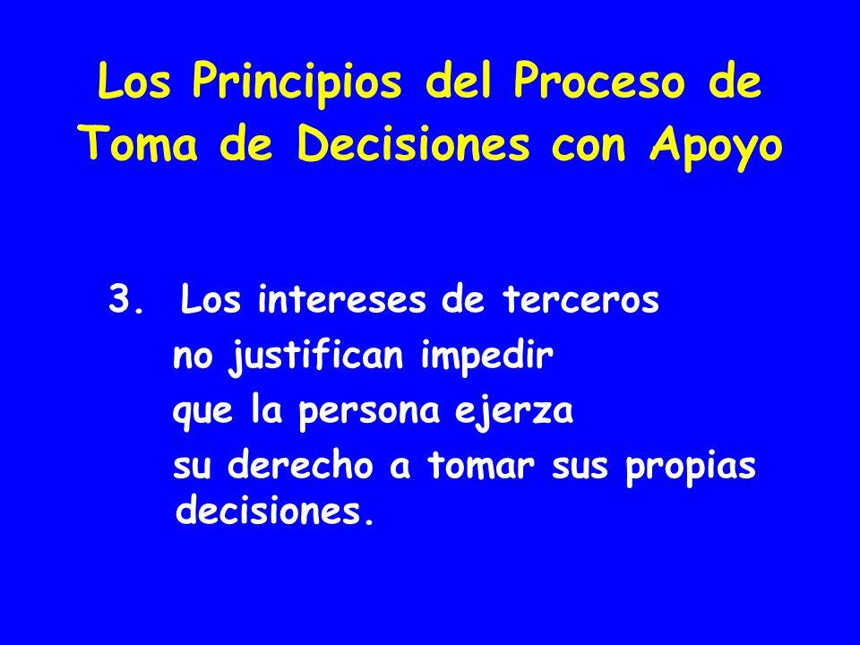 Los Principios del Proceso de Toma de Decisiones con Apoyo 3.