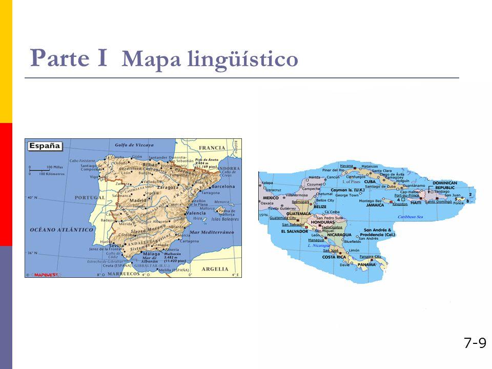 Parte I Mapa lingüístico 7-9