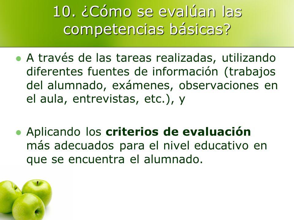 10.¿Cómo se evalúan las competencias básicas.