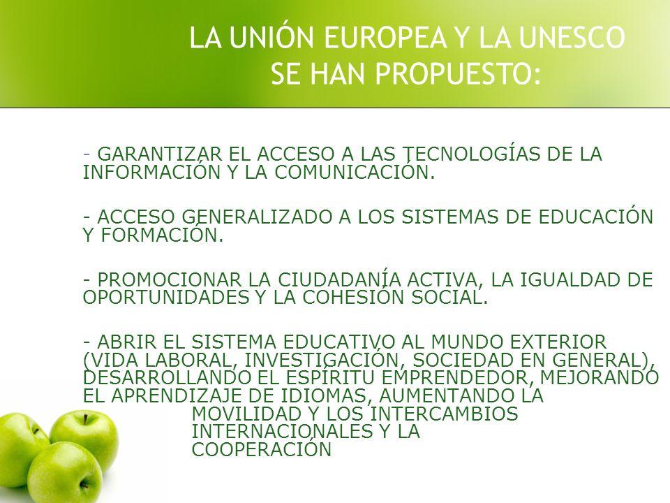 - GARANTIZAR EL ACCESO A LAS TECNOLOGÍAS DE LA INFORMACIÓN Y LA COMUNICACIÓN.