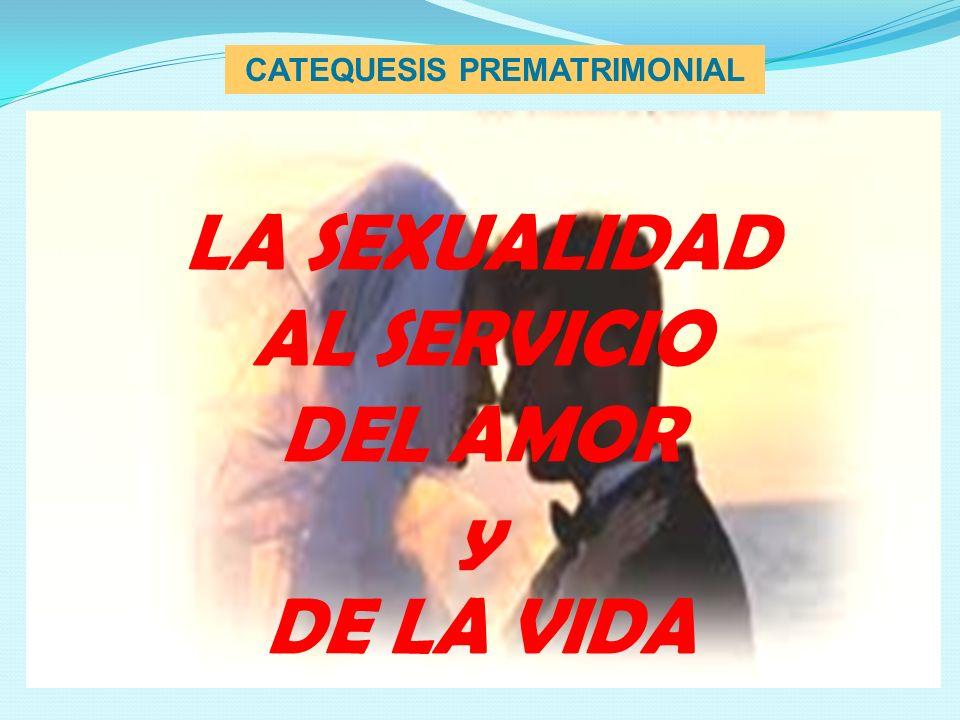 CATEQUESIS PREMATRIMONIAL TEMA : LA SEXUALIDAD AL SERVICIO DEL AMOR Y DE LA VIDA