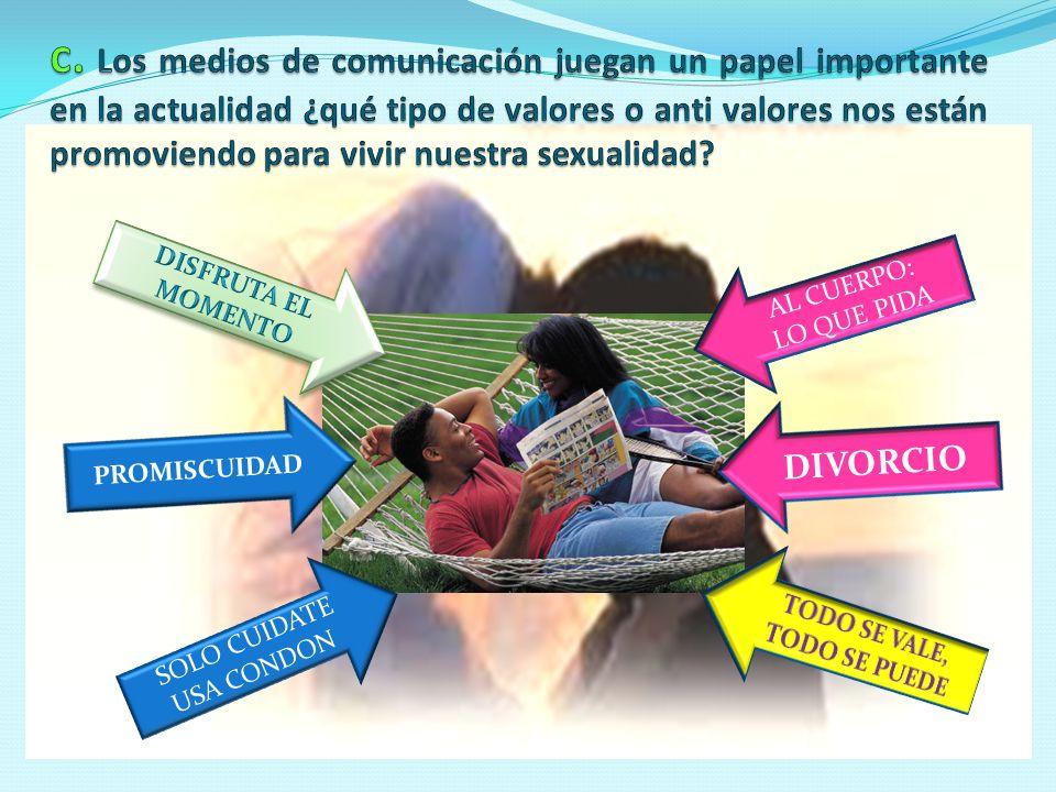 SOLO CUIDATE USA CONDON AL CUERPO: LO QUE PIDA DIVORCIO PROMISCUIDAD