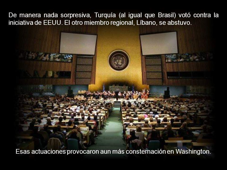 EEUU socavó rápidamente el acuerdo promoviendo una resolución el Consejo de Seguridad de la ONU con nuevas sanciones contra Irán, tan carentes de sent