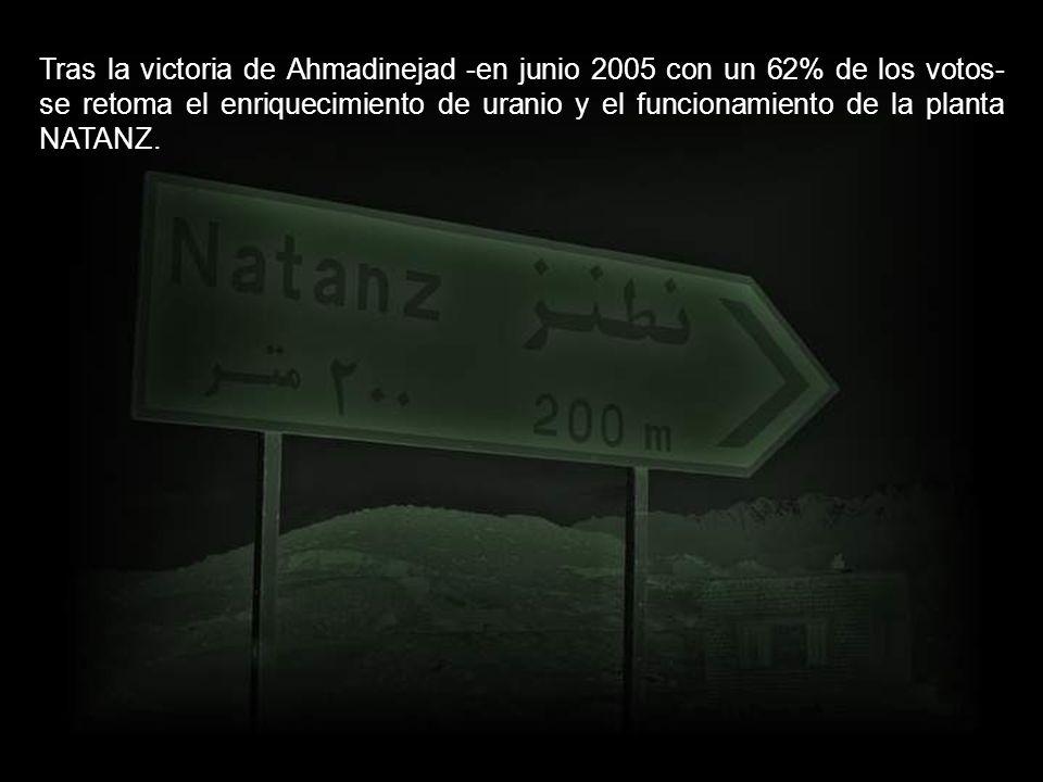 En 2003 Irán construye su primer reactor nuclear con la aprobación de Naciones Unidas, que concluye que no persigue fines bélicos.