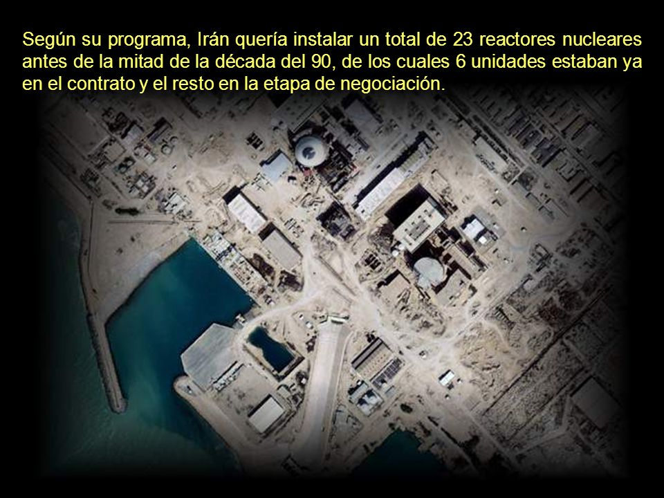 En diciembre del mismo año, Alemania Occidental acordó enviar a Irán equipamientos por valor de 4.800 millones de dólares para la fabricación de 4 reactores nucleares.