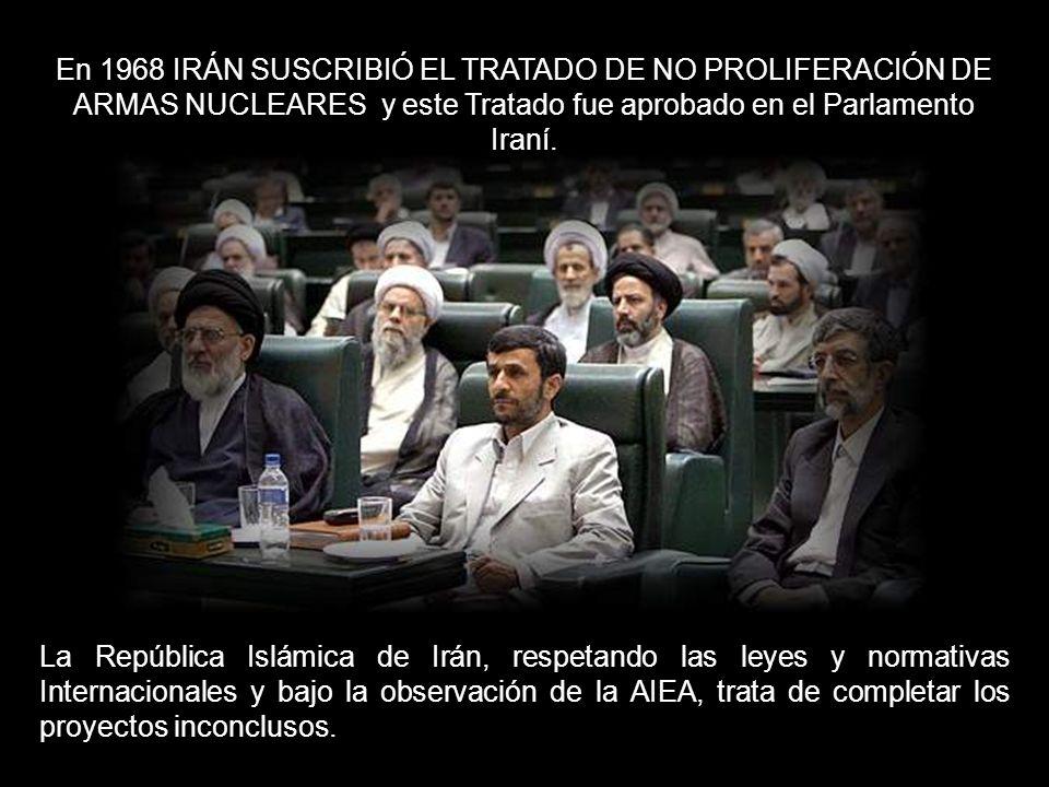 Desde 1958, Irán es miembro de la Agencia Internacional de Energía Atómica.