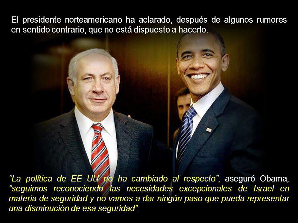 Obama ha recibido presiones de los países árabes para que, a su vez, presione a Israel a firmar ese Tratado y, por tanto, a revelar su arsenal atómico