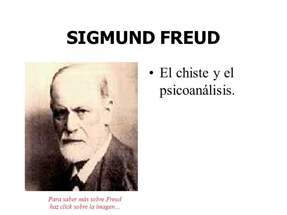 SIGMUND FREUD El chiste y el psicoanálisis. Para saber más sobre Freud haz click sobre la imagen…