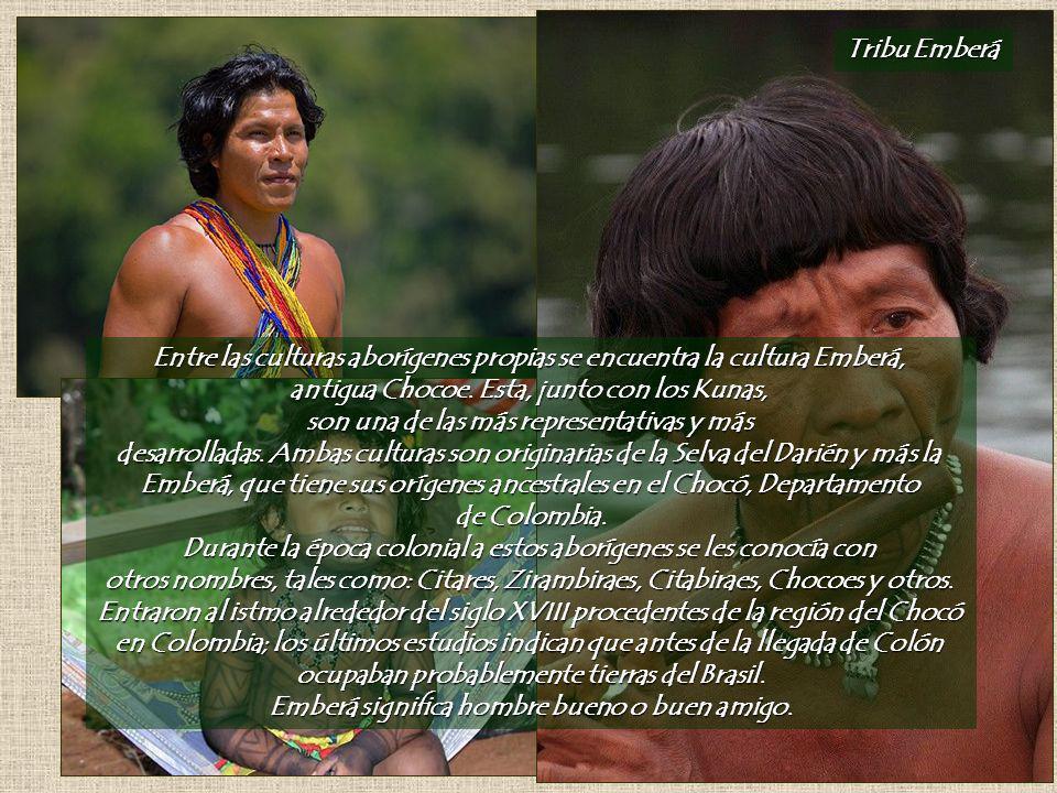 Tribu Emberá Entre las culturas aborígenes propias se encuentra la cultura Emberá, antigua Chocoe.