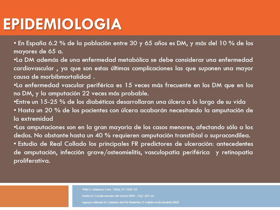 INTRODUCCIÓN El manejo del paciente con osteomielitis sigue siendo uno de los puntos más controvertidos (1,2) Aparece en 10-15 % de las infecciones leves, y hasta 50% de las infecciones graves La infección es la principal causa de amputación por encima de la isquemia TTO MÉDICO Hay numerosos estudios que indican que se obtiene buena respuesta con tto médico únicamente (3,4) Incluyen dentro del tto el desbridamiento limitado Muchas de las infecciones catalogadas como osteomielitis eran sólo infecciones de partes blandas Consideran como resultado óptimo la mejoría clínica, lo que no equivale a la curación del proceso TTO QX En un estudio de Hartemman con 157 pacientes con úlceras complicadas, 45 tenían osteomielitis con isquemia, 41 fueron sometidos a cirugía.
