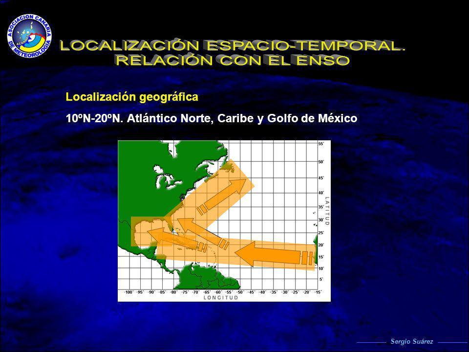 Localización geográfica 10ºN-20ºN. Atlántico Norte, Caribe y Golfo de México Sergio Suárez