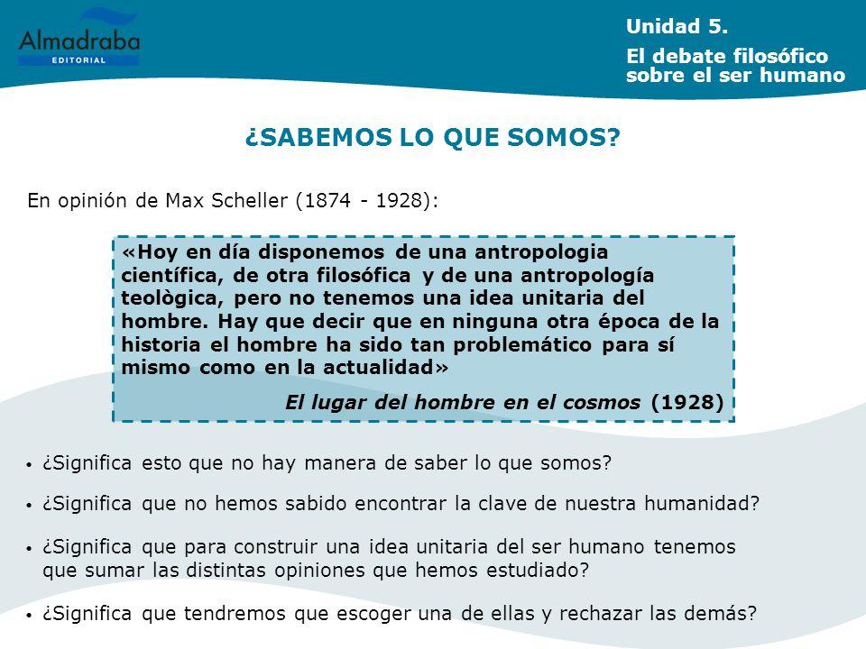 UN DEBATE ACTUAL: SERES HUMANOS Y PERSONAS Unidad 5.