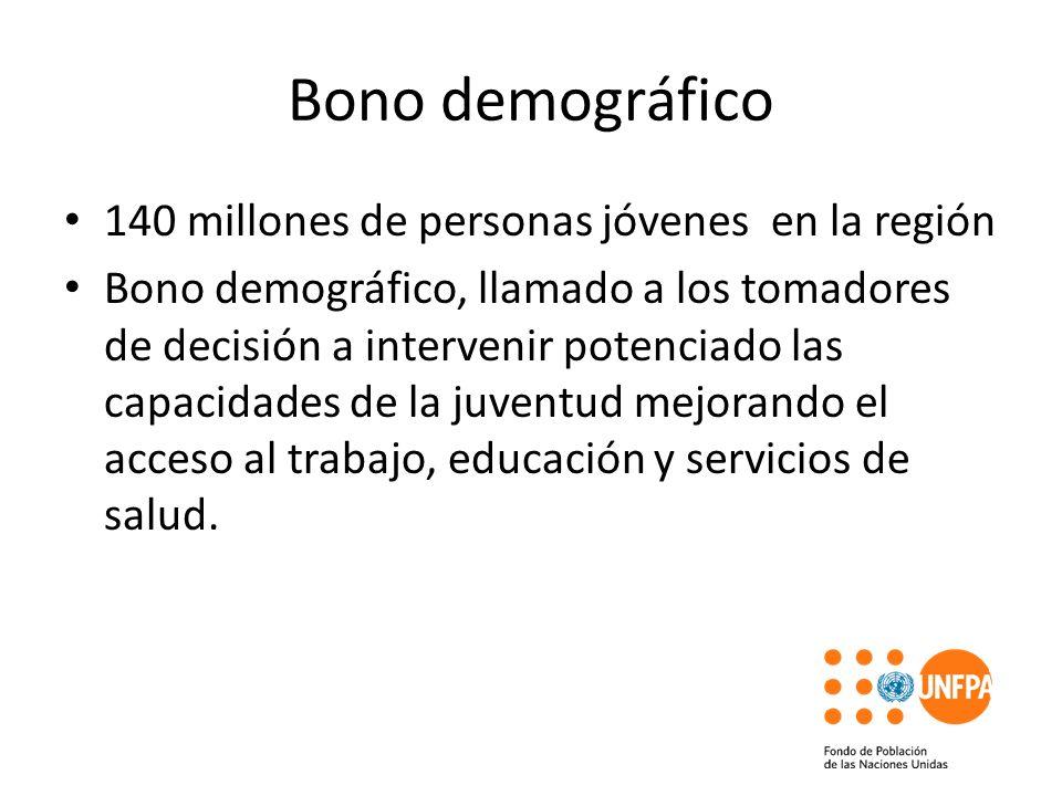 Bono demográfico 140 millones de personas jóvenes en la región Bono demográfico, llamado a los tomadores de decisión a intervenir potenciado las capac