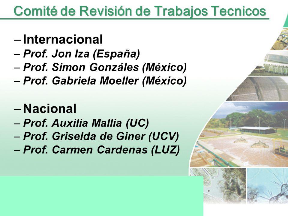 Comité Organizador –Prof. Rafael Dautant –Prof. Tulio Hidalgo –Prof. Auxilia Mallia –Prof. Zulay Niño. –Prof. María José Llobregat –Prof. Iván Parra –