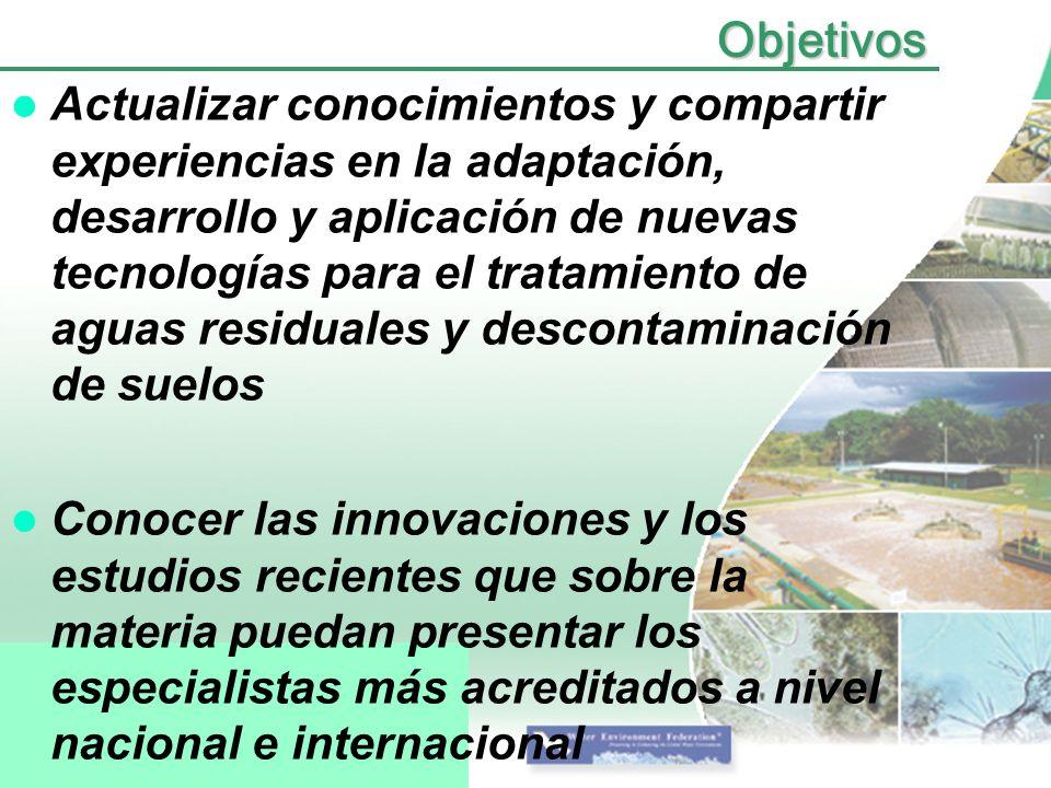 Organizadores Asociación Interamericana de Ingeniería Sanitaria y Ambiental (AIDIS).