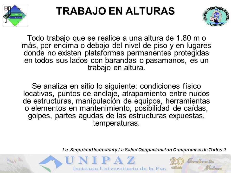 SEGURIDAD EN LOS ANDAMIOS La Seguridad Industrial y La Salud Ocupacional un Compromiso de Todos !!