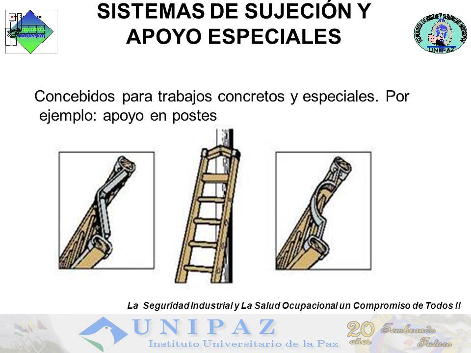 SISTEMAS DE SUJECIÓN Y APOYO ESPECIALES Concebidos para trabajos concretos y especiales.