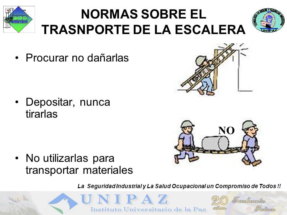 Protección de caidas La Seguridad Industrial y La Salud Ocupacional un Compromiso de Todos !!